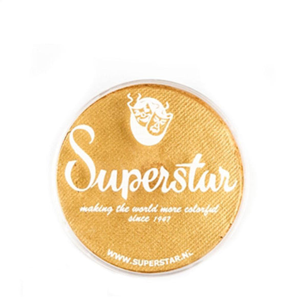Superstar Aqua Face & Body Paint - Gold Shimmer w Glitter 066 (16 gm)