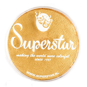Superstar Aqua Face & Body Paint - Gold Shimmer w Glitter 066 (45 gm)