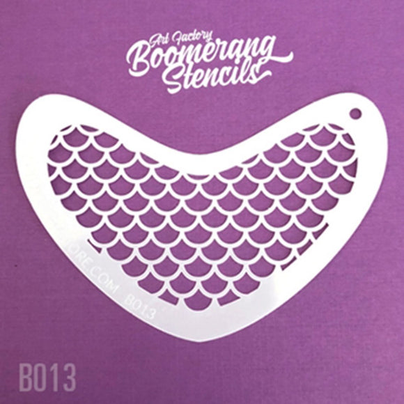 Art Factory Boomerang Face Painting Stencil - Mermaid Scale