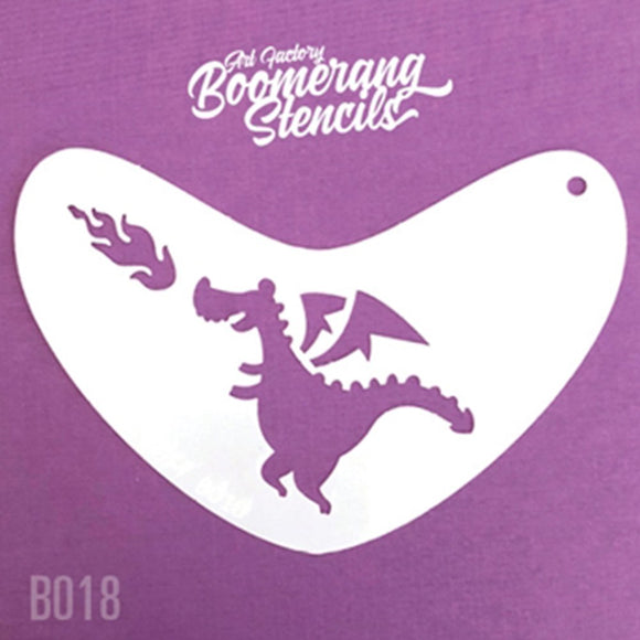 Art Factory Boomerang Face Painting Stencil - Cute Dragon