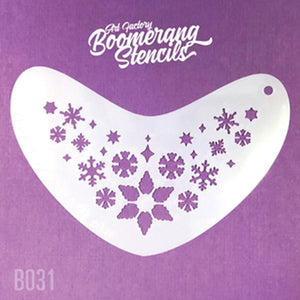 Art Factory Boomerang Face Painting Stencil - Whimsy Snowflakes