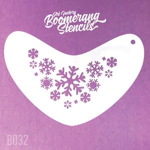 Art Factory Boomerang Face Painting Stencil - Frozen Snowflakes