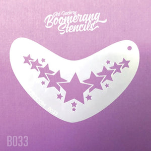Art Factory Boomerang Face Painting Stencil - Star Crown