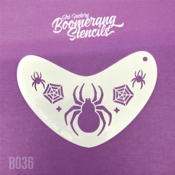 Art Factory Boomerang Face Painting Stencil - Spider Crown