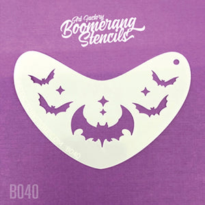 Art Factory Boomerang Face Painting Stencil - Bat Crown