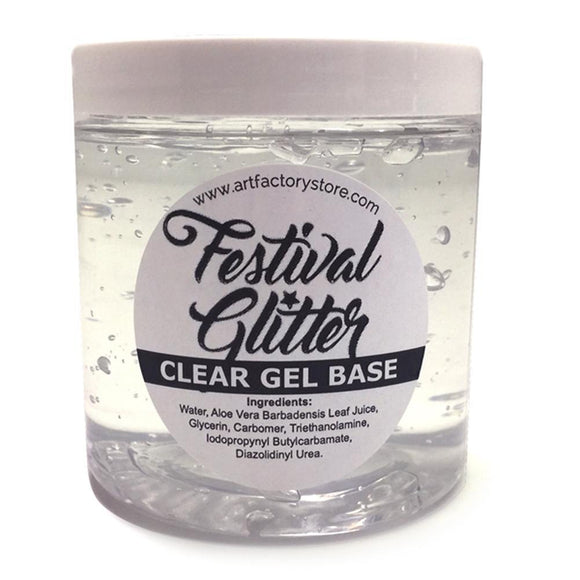 Art Factory Festival Glitter Clear Gel Base (8 oz)
