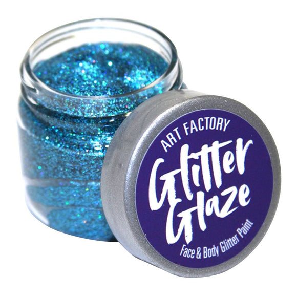 Art Factory Glitter Glaze Face & Body Paint -  Blue (1 oz)