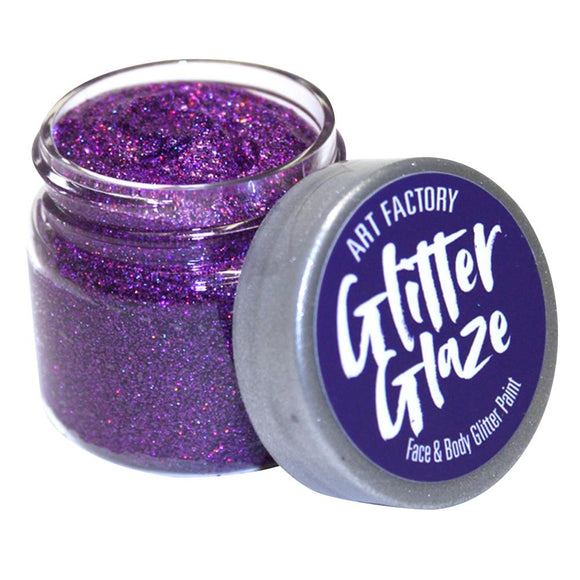 Art Factory Glitter Glaze Face & Body Paint -  Purple (1 oz)