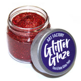 Art Factory Glitter Glaze Face & Body Paint -  Red (1 oz)