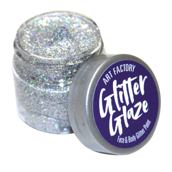 Art Factory Glitter Glaze Face & Body Paint -  Silver (1 oz)