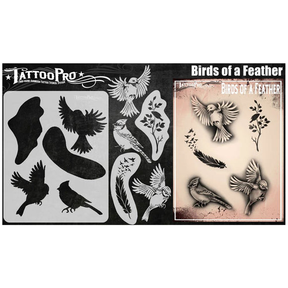 Tattoo Pro Stencils Series 8 - Birds of a Feather