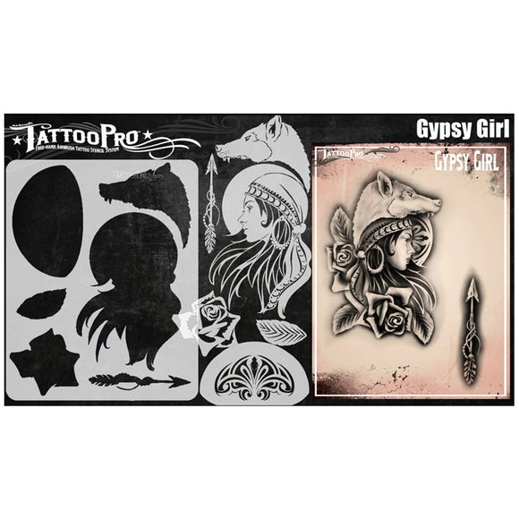 Tattoo Pro Stencils Series 8 - Gypsy Girl