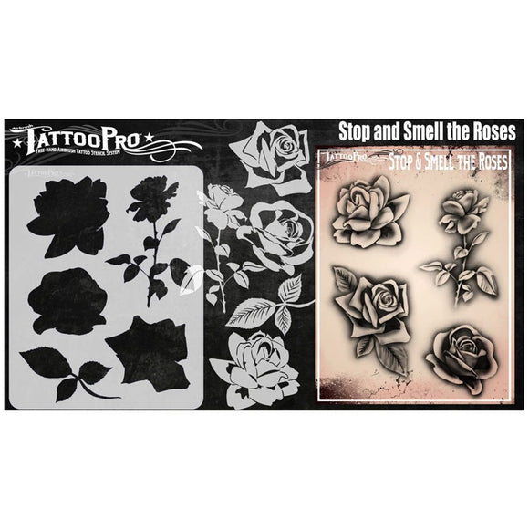 Tattoo Pro Stencils Series 8 - Stop and Smell the Roses