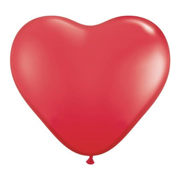 6 inch Heart Balloons - Red (100/bag)