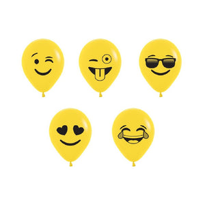 "Qualatex Betallic 5"" Emoji Assortment (100/bag)"