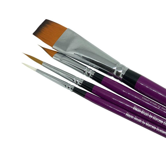 Blazin Brush Collection By Marcela Bustamante (Set of 4)