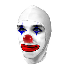 White Lycra Clown Hood, Short