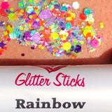 Creative Faces Chunky Glitter Stick - Rainbow