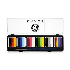 Kraze FX 6 One Stroke Split Cake Palette - Splash (6 x 6 gm)