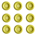 Dill Buttons - 4 Hole - Yellow
