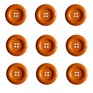 Dill Buttons - 4 Hole - Orange
