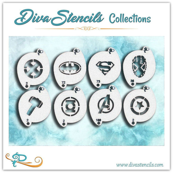 Diva Stencil - Super Hero Set