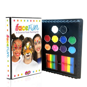Silly Farm Deluxe Rainbow Face Fun Face Painting Kit