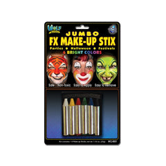 Wolfe Jumbo Bright Face Paint Crayons (6/box)