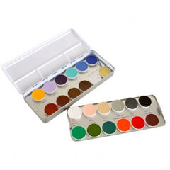 Kryolan Aquacolor Regular Face Paint Palettes (24 Colors)
