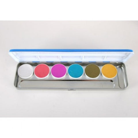 Kryolan Aquacolor Interferenz Face Paint Palettes 6 Colors