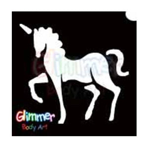 Glimmer Body Art Glitter Tattoo Stencils Unicorn (5/pack)