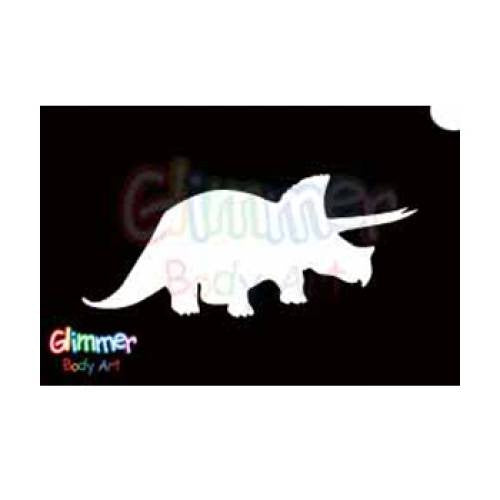 Glimmer Body Art Glitter Tattoo Stencil Triceratops 5/pack