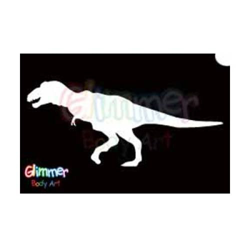 Glimmer Body Art Glitter Tattoo Stencils - T-Rex (5/pack)