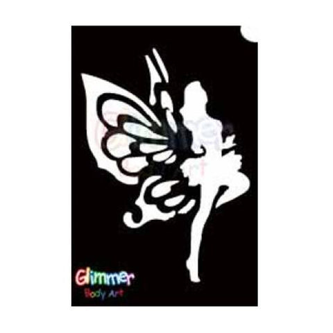 Glimmer Body Art Glitter Tattoo Stencil Dancing Fairy 5/pk