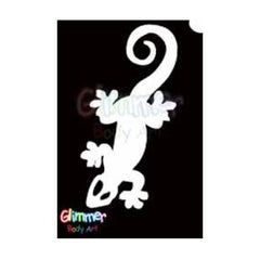 Glimmer Body Art Glitter Tattoo Stencils - Lizard (5/pack)