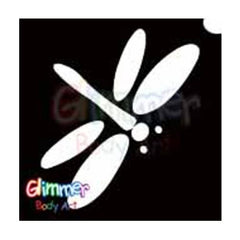 Glimmer Body Art Glitter Tattoo Stencils - Dragonfly 5/pk