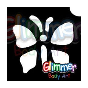 Glimmer Body Art Glitter Tattoo Stencil Butterfly 10 5/pk