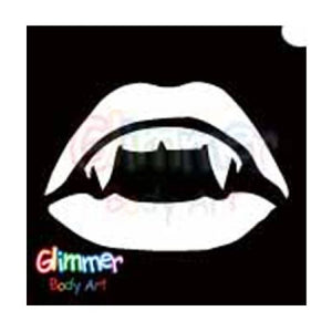 Glimmer Body Art Glitter Tattoo Stencil Vampire Mouth 5/pk