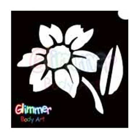 Glimmer Body Art Glitter Tattoo Stencils Daisy 2 (5/pack)