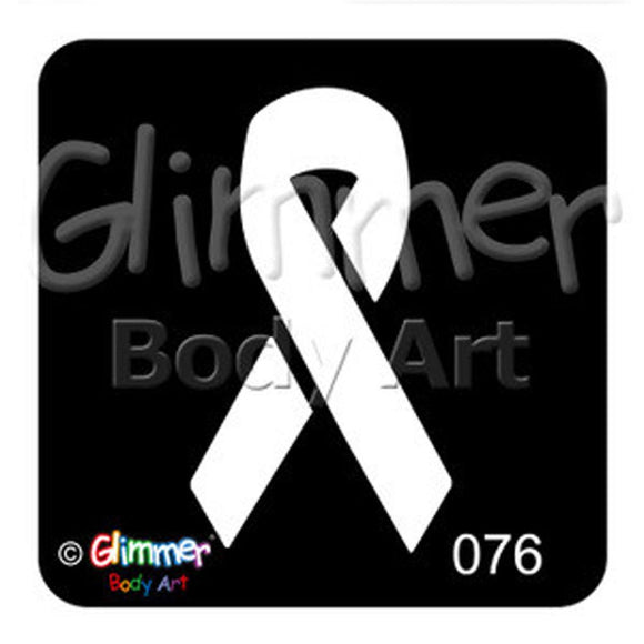 Glimmer Body Art Glitter Tattoo Stencil - Awareness Ribbon (5/pack)