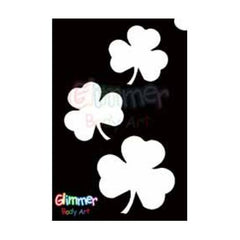 Glimmer Body Art Glitter Tattoo Stencils - Shamrocks 5/pk