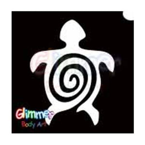 Glimmer Body Art Glitter Tattoo Stencils - Turtle 2 5/pack