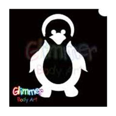 Glimmer Body Art Glitter Tattoo Stencils Penguin (5/pack)