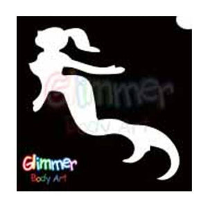 Glimmer Body Art Glitter Tattoo Stencils Mermaid (5/pack)