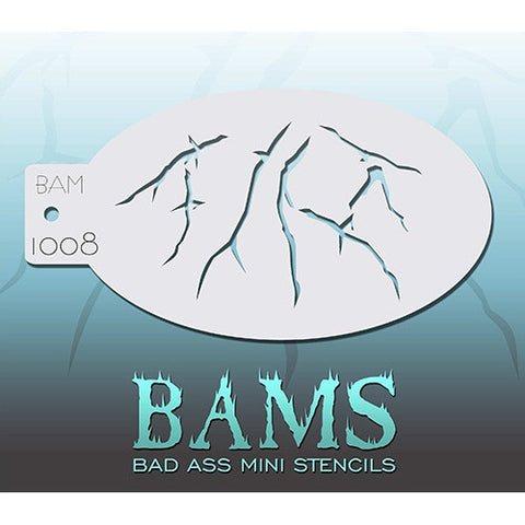 Bad Ass Mini Stencils - Cracks (BAM1008)