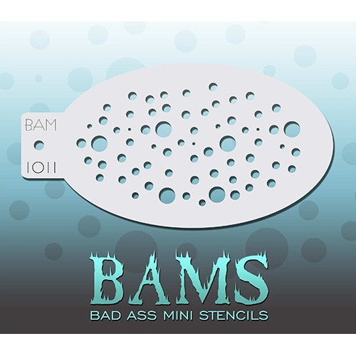 Bad Ass Mini Stencils - Bubbles (BAM1011)