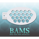Bad Ass Mini Stencils - Fish Scales (BAM1013)