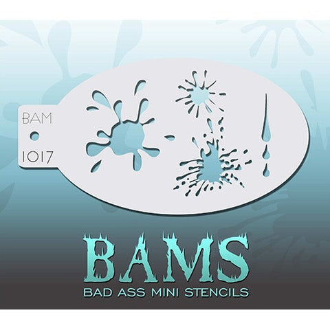 Bad Ass Mini Stencils - Splatters (BAM1017)