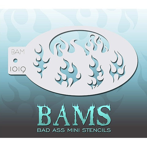 Bad Ass Mini Stencils - Flames (BAM1019)