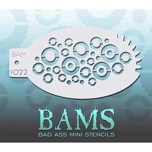 Bad Ass Mini Stencils - Gears (BAM1022)